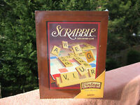 Scrabble Crossword Game Vintage Wooden Book Shelf Collection & Sealed