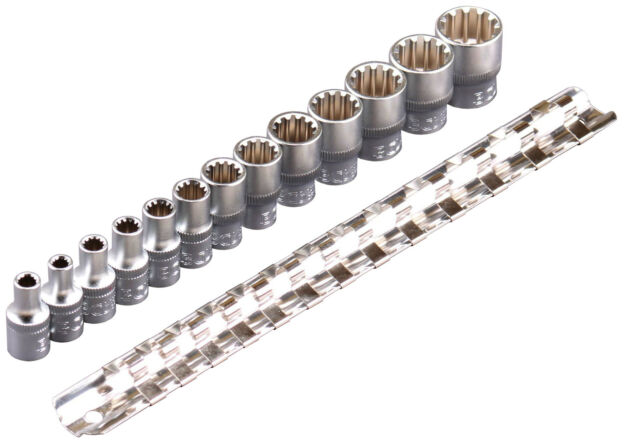 """Vielzahn Satz 1/4"""" Zoll Vielzahn Steckschlüssel Werkzeug Set Torx Nüsse 4-14 mm"""