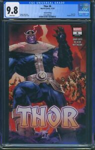 Thor 6 (Marvel) CGC 9.8 White Pages 2nd Print Klein Wraparound Variant Cover