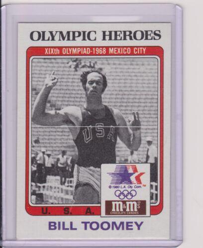 RARE 1983 M/&M/'S OLYMPIC HEROES BILL TOOMEY DECATHLON CARD #40