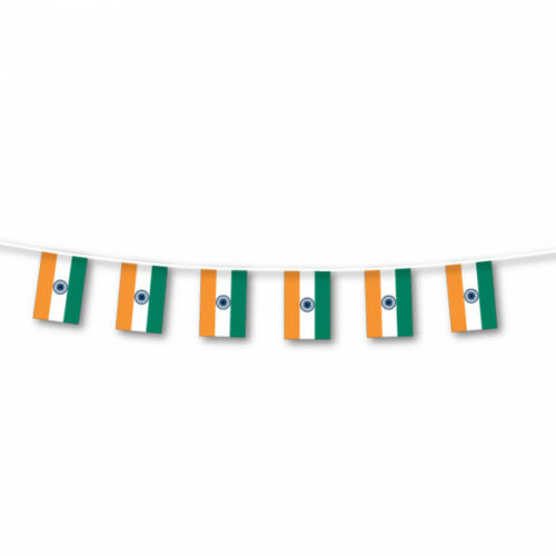 INDIA INDIAN FLAG BUNTING LARGE 3 METRES PARTIES CELEBRATIONS