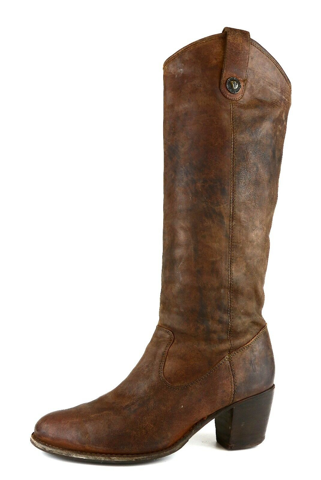 Frye Jackie Butto Leather Boot Brown Women Sz 9.5 B 5620 *