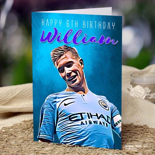 Kevin De Bruyne Man City Personalised Birthday Card Son Dad Father Grandad Son