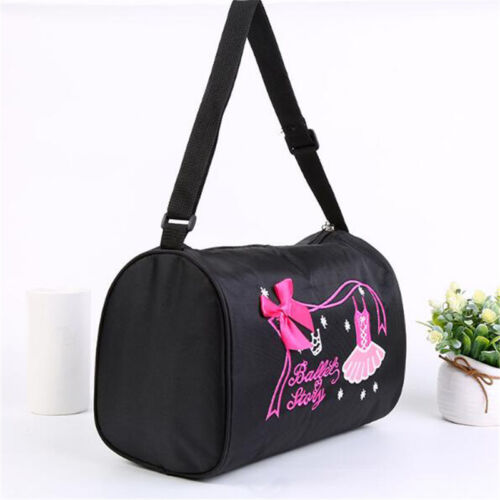 Kids Girls Ballet Dance Bag Embroidered Gym Bag Dance Hand Bag With Zipper S