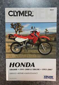 clymer honda xr600r xr650l service manual 1991 2007 ebay rh ebay com honda xr600 service manual honda xr600 service manual pdf