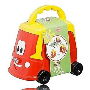KIDS-LITTLE-TIKES-TOY-TRUCK-SET-FUN-CRAFT-SOFT-DOUGH-CLAY-SHAPES-ACTIVITY-RED