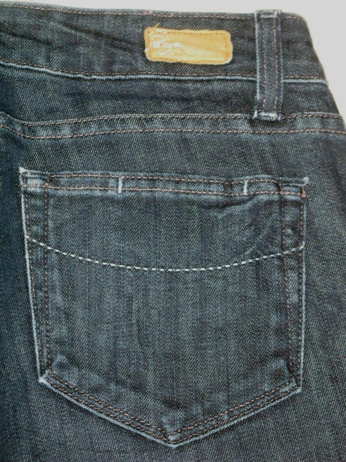 Paige Benedict Canyon Bootcut Jeans Sz 26 CLassic Rise Dark w Stretch L 33.5
