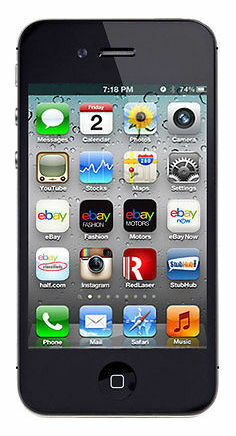 Apple iPhone 4S - 8GB - Black FACTORY Unlocked PAGE PLUS STRAIGHT TALK VERIZON