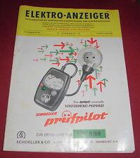 zeitschrift elektro anzeiger girardet technik wirtschaft heft okt. 1960 alt