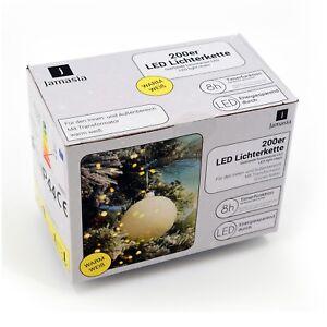 Jamasia-999103-LED-Lichterkette-200er-warmweiss-fuer-Aussen-mit-Timerfunktion-8h