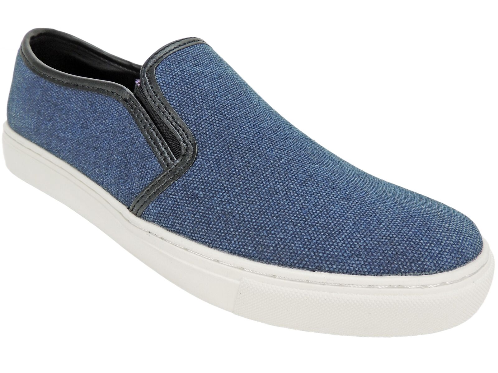 Kenneth Cole Reaction Para hombre Azul Marino Zapatillas Done It Again Lona M