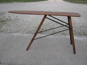 Old Antique Vintage Primitive Wood Ironing Table Ironing Board Great