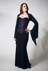 Gothic-Black-Morticia-Style-Skirt-Size-Small-8-10