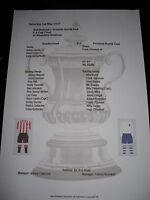 1937 FA Cup final Sunderland v Preston North End Matchsheet
