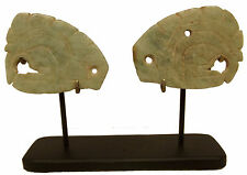 ANTIQUE PAIR OF JADE EAR ORNAMENTS