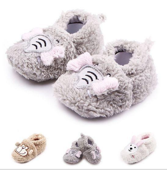 3c4261be57a14 Warm Newborn Socks Unisex Baby Boy Girls Infant Cute Bear Crib Warm Shoes  0-18M