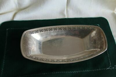 Silberschale Durchbruchschale 900 Er Ca. 255 Gr. Meriden S.p.co
