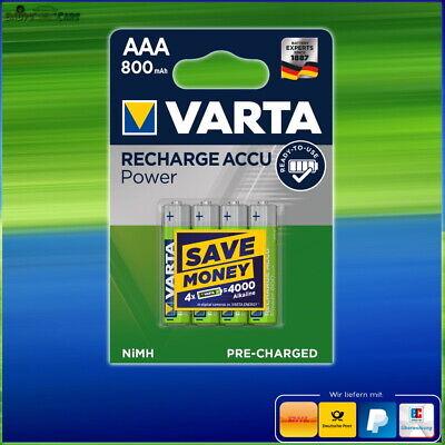 4 Stk Varta Akku AAA 800 mAh NiMH, Micro, AAA, HR03, 1.2V ...