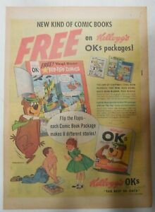Kellogg's Cereal Ad: Yogee Bear Comic Book From 1962 Size: 11  x 15  inches