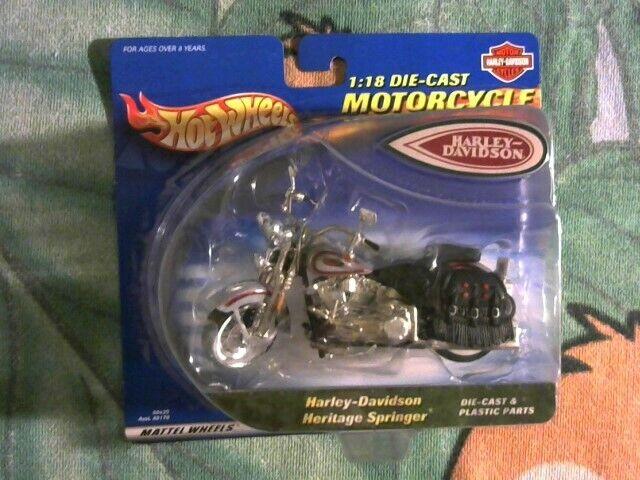 Harley Davidson Heritage Springer 1 18 Scale Hot Wheels Motorcycle 2000 For Sale Online Ebay