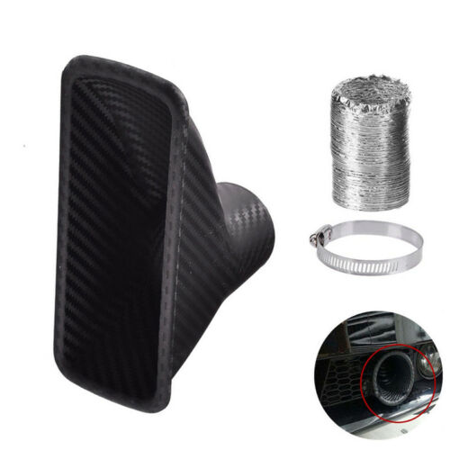 Car Turbo Air Intake Port Front Bumper Opening Loom Tube Clamp Air Funnel kit