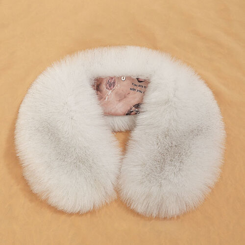 Short Luxury Women Rabbit Faux  Fur Scarf Warmer Wrap Collar Shawl Stole Winter