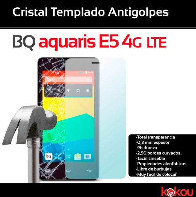 1 PROTECTOR ANTIGOLPES Pantalla Cristal Vidrio Templado Bq Aquaris E5 4G