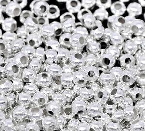 2000-Versilbert-rund-Quetschperlen-Perlen-Beads-2-4mm