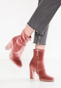 £90 Zu Rrp Madden Details Genuine Boot 8 Ankle Steve 3 4 5 Velvet Rose Size 6 New 7 Editt ED29HI