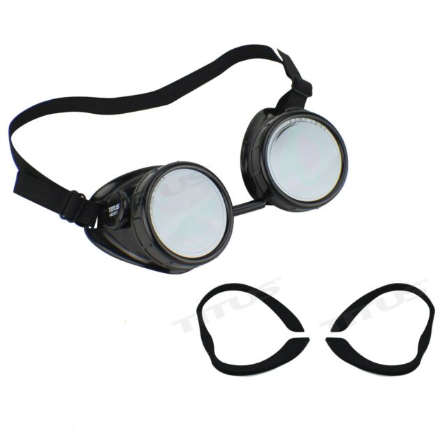 Titus Aviation Pilot Style Biker Motorcycle Cup Goggles Safety Glasses ANSI Z87 for sale online