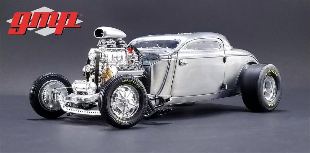 1934 Soplado alterado Coupe Raw Acero en escala 1 18 por GMP