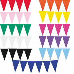 10m Bunting in UV white and green and dark green party decor