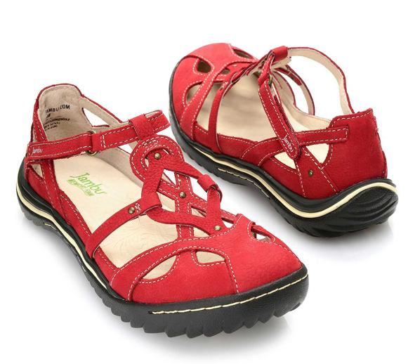 edizione limitata Jambu Spain rosso Mary Jane Strappy Strappy Strappy Flat scarpe Donna Dimensiones 6-10 NEW     servizio premuroso