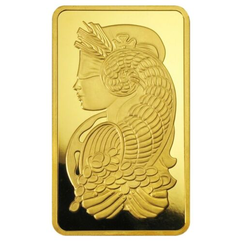 10 oz PAMP Suisse Lady Fortuna Gold Bar .9999 Fine In Assay