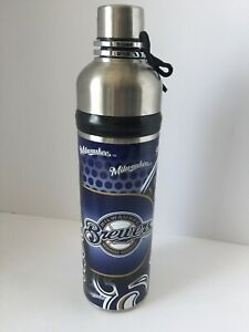 Details about NEW MILWAUKEE BREWERS WATER BOTTLE TWIST OFF CAP & SPOUT 360  WRAP 260Z