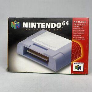 Nintendo 64 Controller Pak Memory N64 CIB OEM Authentic *Good*