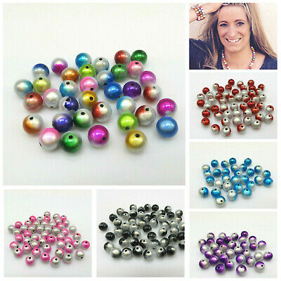 UK SELLER 20 14MM 3D ILLUSION MIRACLE ROUND ACRYLIC BEADS FOR JEWELLERY MAKING