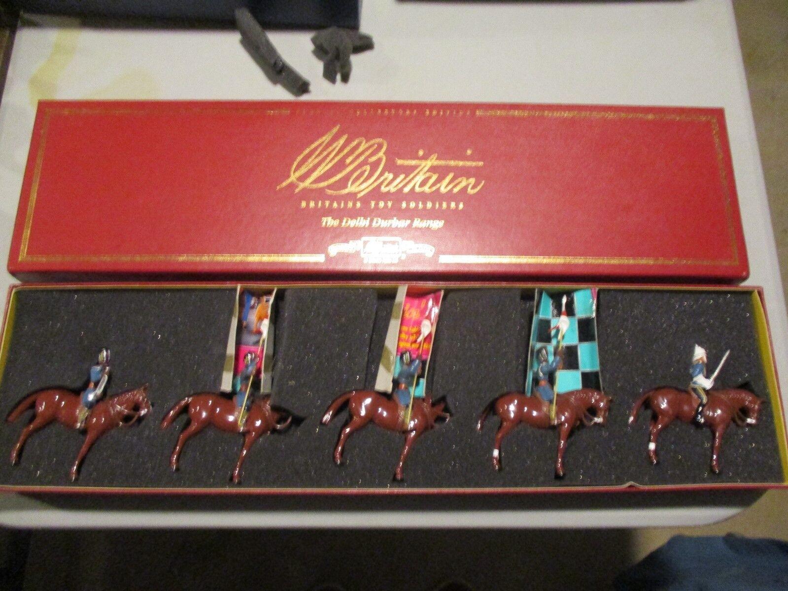 W. Britains 54mm glossy setDelhi Durbar range 27th light cavalry madras
