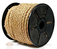 5mm Diameter Natural Leather Braided Bolo Cord Beading Bracelets Woven Tie Cord