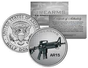 AR15-Gun-Firearms-JFK-Kennedy-Half-Dollar-US-Colorized-Coin