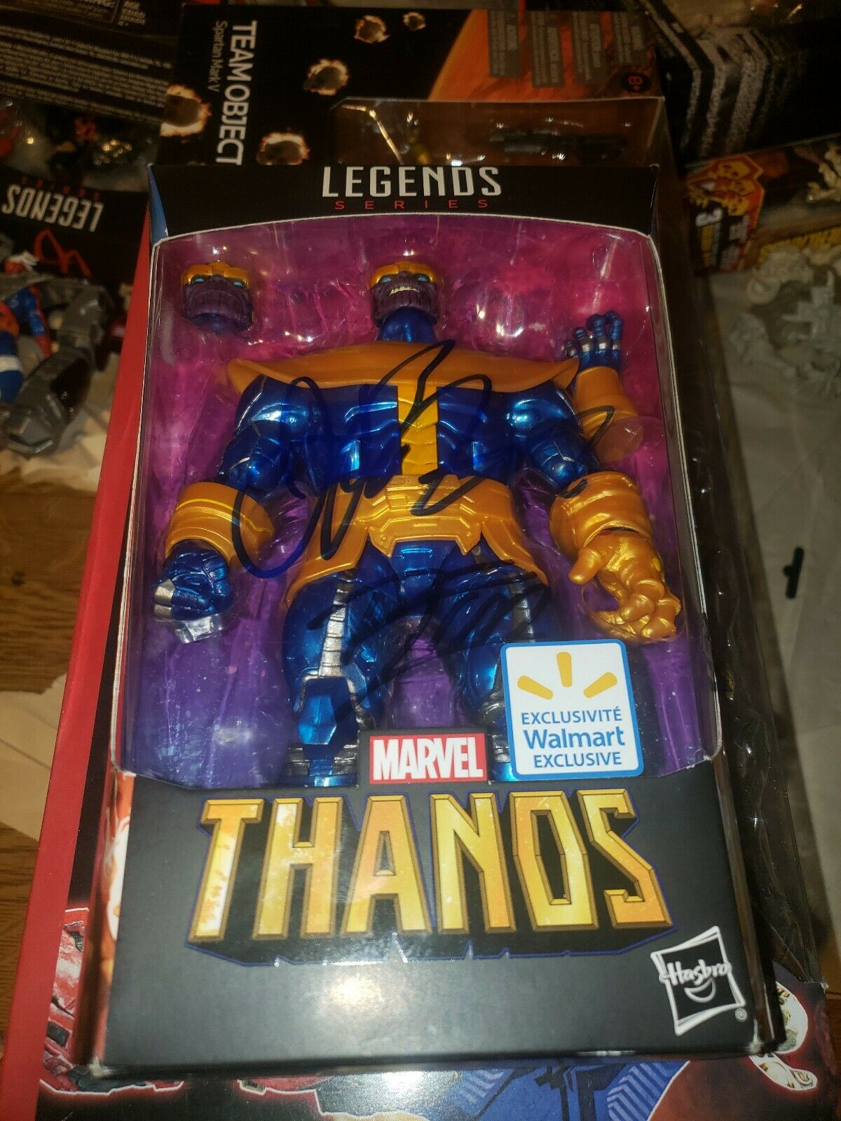 Marvel Legends Thanos 6  Walmart Exclusive Signed by Jim Sternlin & Rom Lim