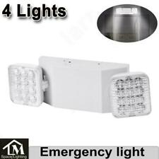 4x Led Emergency Exit Light Double Dual Head Home Office Market Ul Lighting Lamp