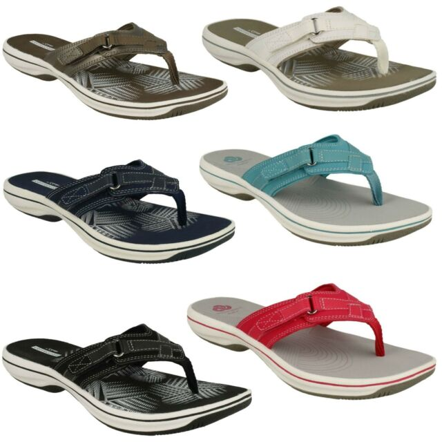 elegant and sturdy package uk cheap sale info for BRINKLEY SEA LADIES CLARKS TOE POST CASUAL MULE FLIP FLOPS SUMMER SANDALS  SIZE