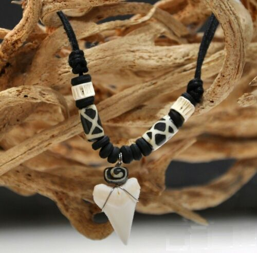 Natural Thailand Shark Tooth Teeth Necklace Power Amulet Pendant Fashion Gift