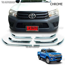 Chrome Line Fender Grille Bonnet Cover Fit Toyota Hilux Revo Pickup 2015 2016