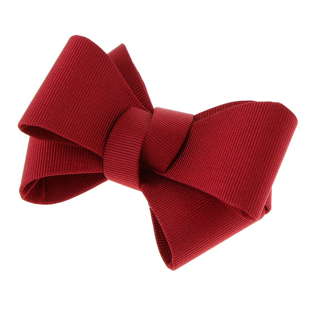 1pc Simple Plain Ribbon Bow Butterfly High Heel Shoe Clips Charms - Red