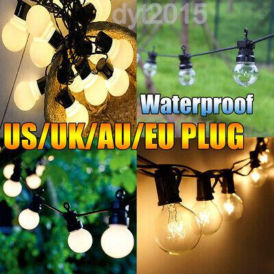 13M Timer Function LED Globe Festoon String Lights 20bulbs Garland Hanging Lamps