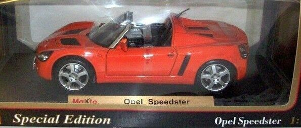 OPEL SPEEDSTER orange BY MAISTO 1 18 BRAND NEW IN BOX HARD TO FIND MODEL