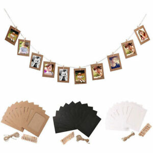 10Pc-6Inch-DIY-Wall-Picture-Paper-Photo-Hanging-Frame-Album-Rope-Clip-Decoration