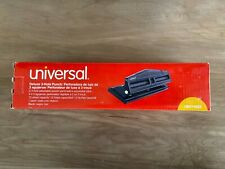 Universal Deluxe Adjustable 2 3 Hole Punch12 Sheet Deluxe Black